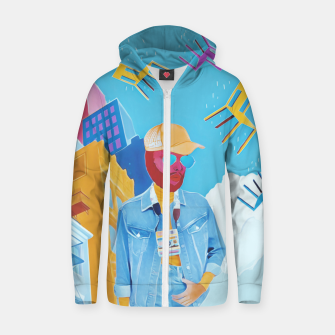 Thumbnail image of Tourist Zip up hoodie, Live Heroes