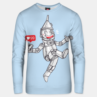 Thumbnail image of WE CAN'T LIVE WITHOUT SOCIAL MEDIA Unisex sweater, Live Heroes