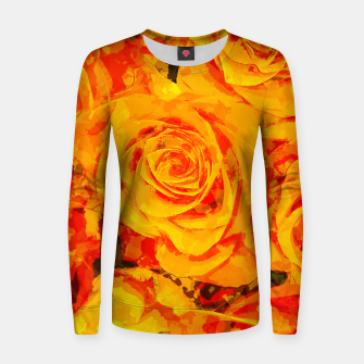 Miniatur gxp flowers orange roses paint watercolor effect Women sweater, Live Heroes