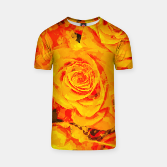 Miniaturka gxp flowers orange roses paint watercolor effect T-shirt, Live Heroes