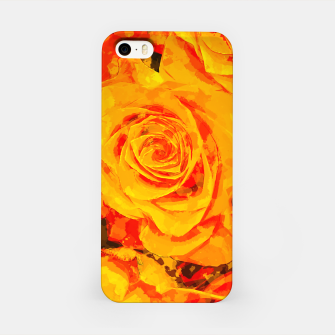 Miniatur gxp flowers orange roses paint watercolor effect iPhone Case, Live Heroes