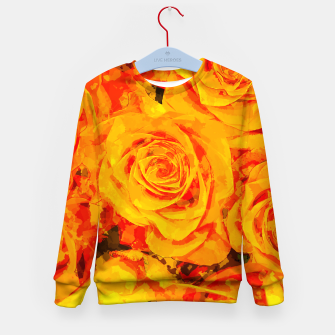 Miniatur gxp flowers orange roses paint watercolor effect Kid's sweater, Live Heroes
