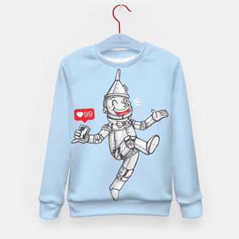 Thumbnail image of WE CAN'T LIVE WITHOUT SOCIAL MEDIA Kid's sweater, Live Heroes
