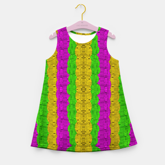 Thumbnail image of  Hipster or hippie in  pattern style Girl's summer dress, Live Heroes
