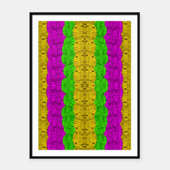 Thumbnail image of  Hipster or hippie in  pattern style Framed poster, Live Heroes