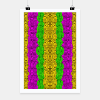 Miniature de image de  Hipster or hippie in  pattern style Poster, Live Heroes