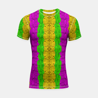 Thumbnail image of  Hipster or hippie in  pattern style Shortsleeve rashguard, Live Heroes