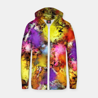 Thumbnail image of Pigment noise Zip up hoodie, Live Heroes