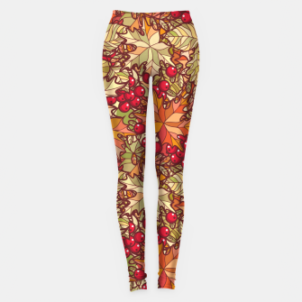 Thumbnail image of Autumn Leaves and Cranberries Leggings, Live Heroes