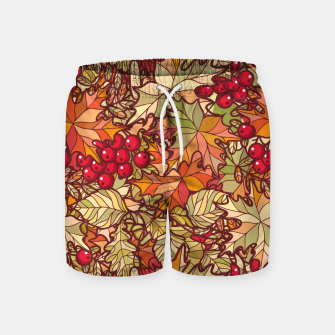 Thumbnail image of Autumn Leaves and Cranberries Swim Shorts, Live Heroes