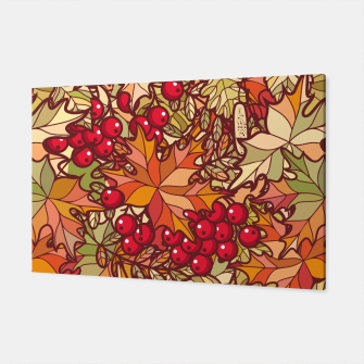 Miniaturka Autumn Leaves and Cranberries Canvas, Live Heroes