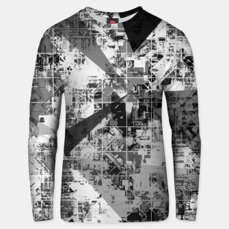 Imagen en miniatura de psychedelic geometric triangle polygon pattern abstract background in black and white Unisex sweater, Live Heroes
