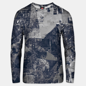 Imagen en miniatura de vintage psychedelic geometric triangle polygon pattern abstract background in black and white Unisex sweater, Live Heroes