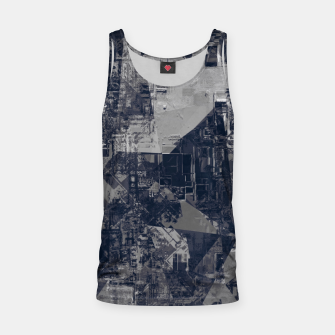 Thumbnail image of vintage psychedelic geometric triangle polygon pattern abstract background in black and white Tank Top, Live Heroes