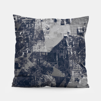 Thumbnail image of vintage psychedelic geometric triangle polygon pattern abstract background in black and white Pillow, Live Heroes