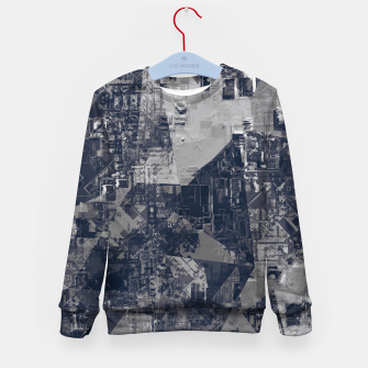 Thumbnail image of vintage psychedelic geometric triangle polygon pattern abstract background in black and white Kid's sweater, Live Heroes
