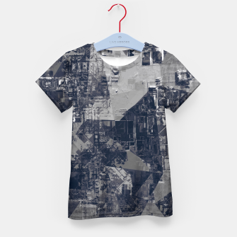 Thumbnail image of vintage psychedelic geometric triangle polygon pattern abstract background in black and white Kid's t-shirt, Live Heroes
