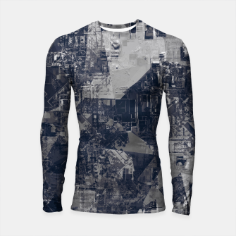 Thumbnail image of vintage psychedelic geometric triangle polygon pattern abstract background in black and white Longsleeve rashguard , Live Heroes