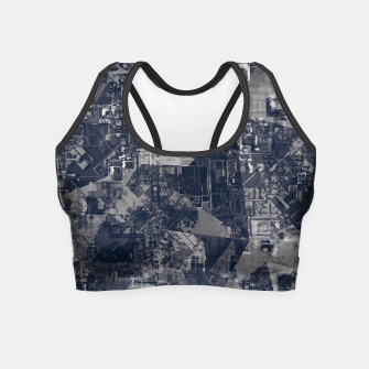 Thumbnail image of vintage psychedelic geometric triangle polygon pattern abstract background in black and white Crop Top, Live Heroes