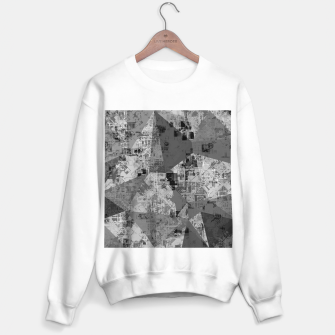 Miniature de image de psychedelic geometric triangle polygon abstract pattern background in black and white Sweater regular, Live Heroes