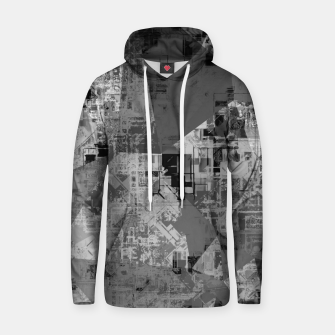 Miniature de image de psychedelic geometric triangle polygon abstract pattern background in black and white Hoodie, Live Heroes