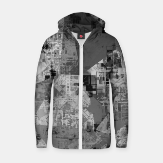 Miniature de image de psychedelic geometric triangle polygon abstract pattern background in black and white Zip up hoodie, Live Heroes