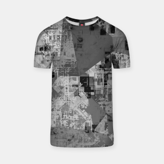 Miniature de image de psychedelic geometric triangle polygon abstract pattern background in black and white T-shirt, Live Heroes