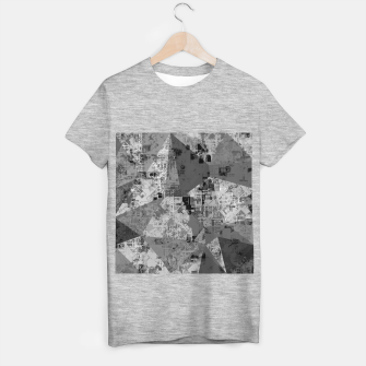 Miniature de image de psychedelic geometric triangle polygon abstract pattern background in black and white T-shirt regular, Live Heroes