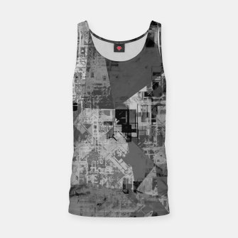 Miniature de image de psychedelic geometric triangle polygon abstract pattern background in black and white Tank Top, Live Heroes