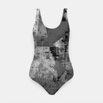 Miniature de image de psychedelic geometric triangle polygon abstract pattern background in black and white Swimsuit, Live Heroes