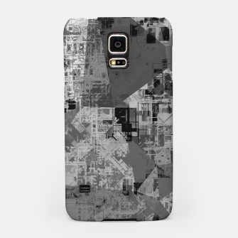 Miniature de image de psychedelic geometric triangle polygon abstract pattern background in black and white Samsung Case, Live Heroes