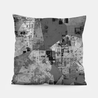 Miniature de image de psychedelic geometric triangle polygon abstract pattern background in black and white Pillow, Live Heroes