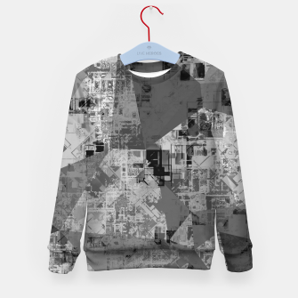 Miniature de image de psychedelic geometric triangle polygon abstract pattern background in black and white Kid's sweater, Live Heroes