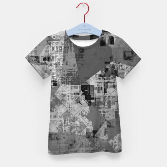 Miniature de image de psychedelic geometric triangle polygon abstract pattern background in black and white Kid's t-shirt, Live Heroes