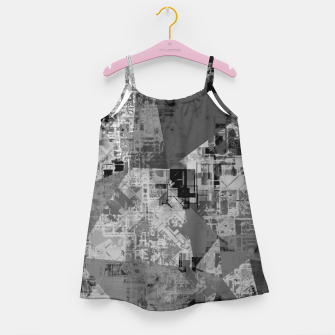 Miniature de image de psychedelic geometric triangle polygon abstract pattern background in black and white Girl's dress, Live Heroes