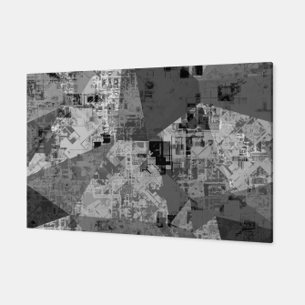 Miniature de image de psychedelic geometric triangle polygon abstract pattern background in black and white Canvas, Live Heroes