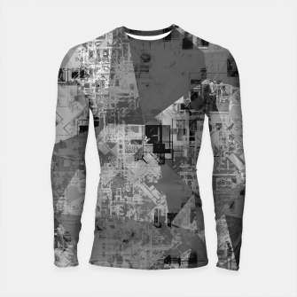Miniature de image de psychedelic geometric triangle polygon abstract pattern background in black and white Longsleeve rashguard , Live Heroes