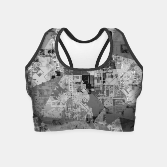 Miniature de image de psychedelic geometric triangle polygon abstract pattern background in black and white Crop Top, Live Heroes