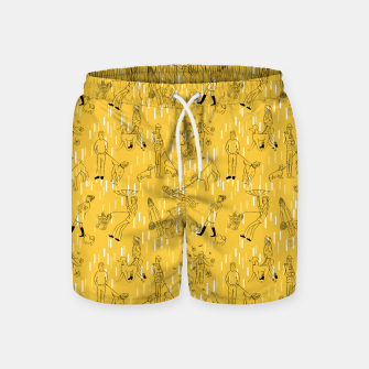 Thumbnail image of Dogs and Their Owners (Autumn) Swim Shorts, Live Heroes