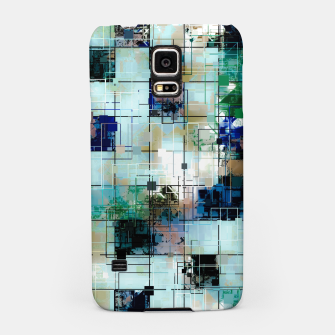 Thumbnail image of psychedelic geometric square pixel pattern abstract background in green blue brown Samsung Case, Live Heroes