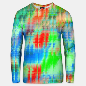 Thumbnail image of psychedelic geometric painting texture abstract background in blue green red Unisex sweater, Live Heroes