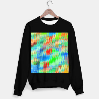 Thumbnail image of psychedelic geometric painting texture abstract background in blue green red Sweater regular, Live Heroes