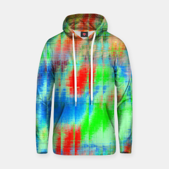 Thumbnail image of psychedelic geometric painting texture abstract background in blue green red Hoodie, Live Heroes