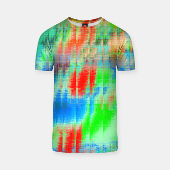 Thumbnail image of psychedelic geometric painting texture abstract background in blue green red T-shirt, Live Heroes