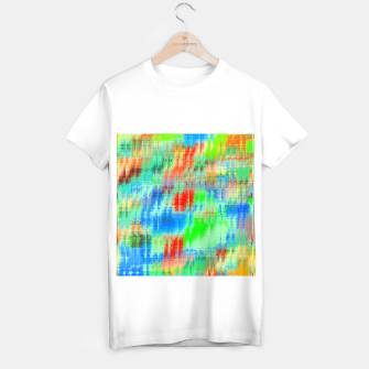 Thumbnail image of psychedelic geometric painting texture abstract background in blue green red T-shirt regular, Live Heroes