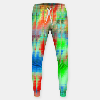 Thumbnail image of psychedelic geometric painting texture abstract background in blue green red Sweatpants, Live Heroes