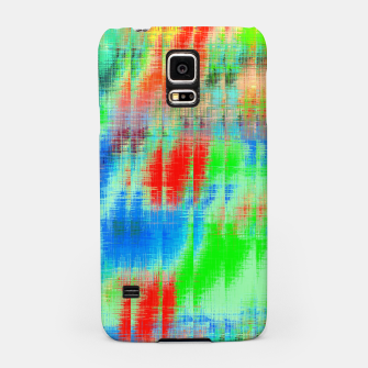 Thumbnail image of psychedelic geometric painting texture abstract background in blue green red Samsung Case, Live Heroes