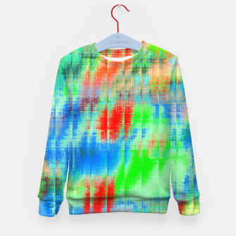 Thumbnail image of psychedelic geometric painting texture abstract background in blue green red Kid's sweater, Live Heroes