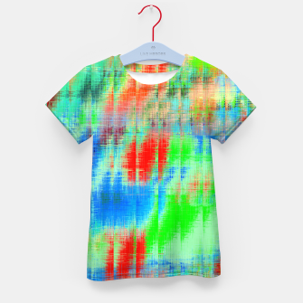 Thumbnail image of psychedelic geometric painting texture abstract background in blue green red Kid's t-shirt, Live Heroes