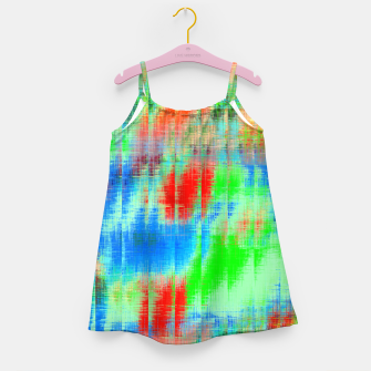 Thumbnail image of psychedelic geometric painting texture abstract background in blue green red Girl's dress, Live Heroes